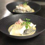 Dos de cabillaud au beurre blanc risotto arborio